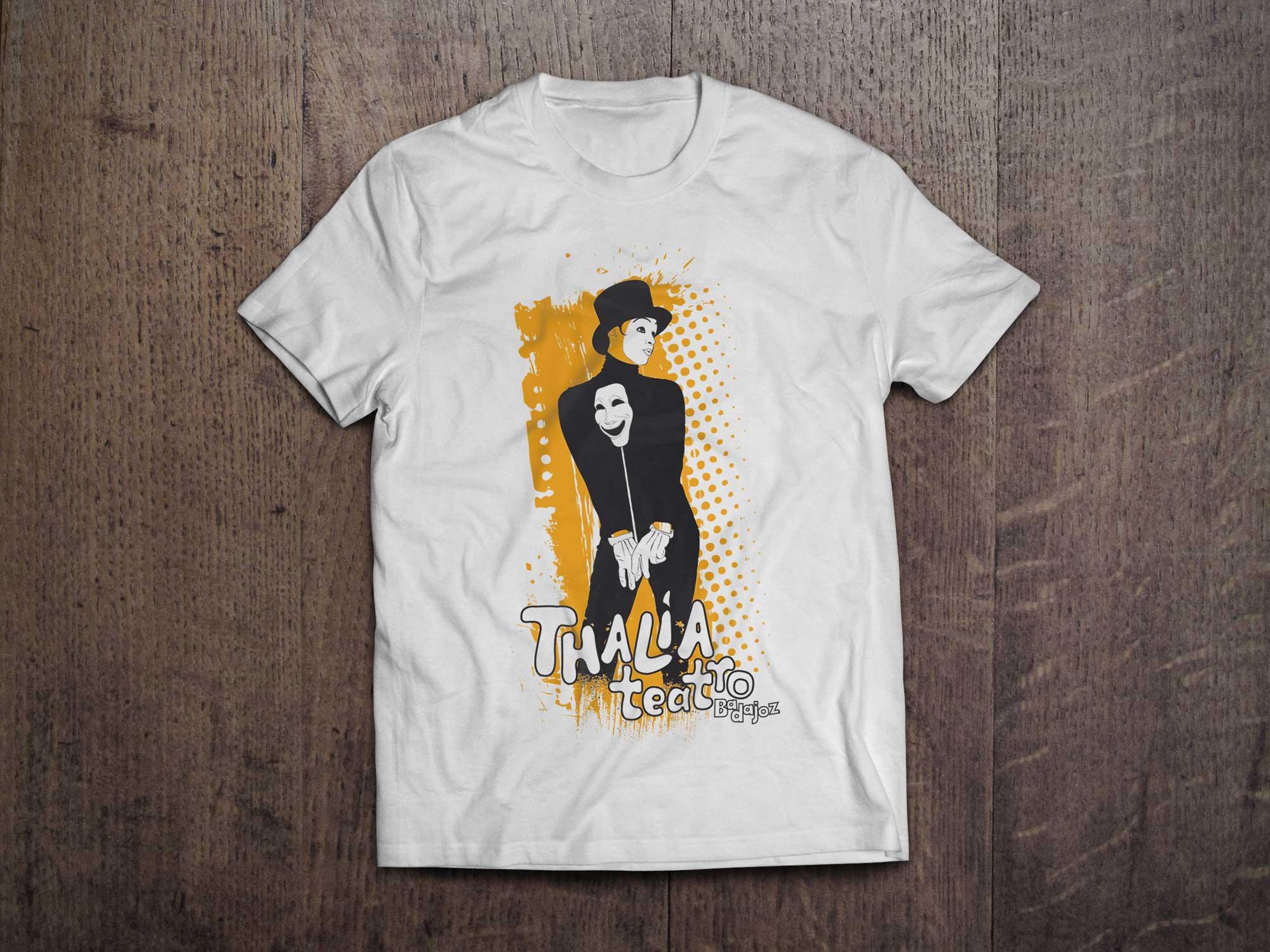 Thalía camiseta blanca