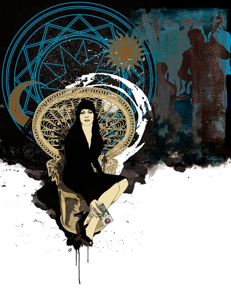 """Aurelia. Ilustración digital inspirada el el poema """"Algo más sobre Aurelia"""" del escritor ecuatoriano Edwin Madrid. Otro trabajo de la serie LA VIDA ÁSPERA"""