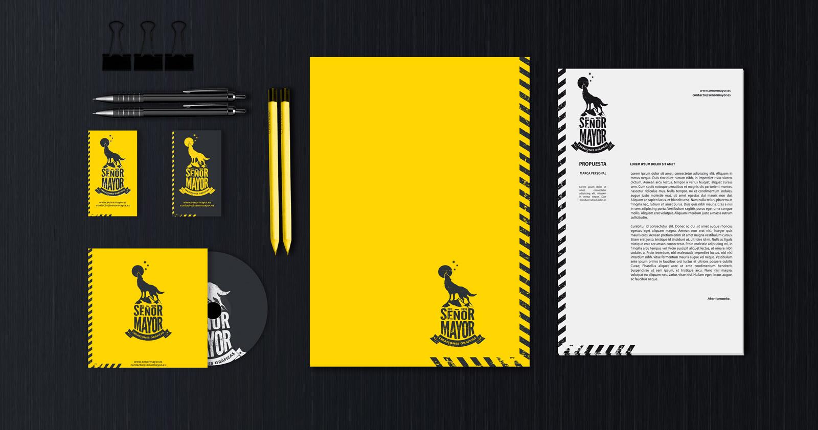 Branding corporativo amarillo