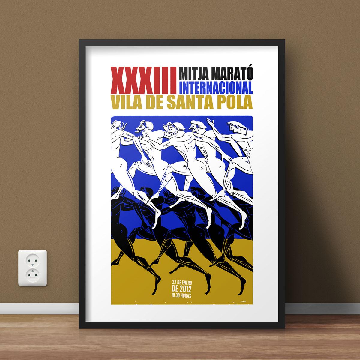 Diseño cartel Mitja Marató Santa Pola