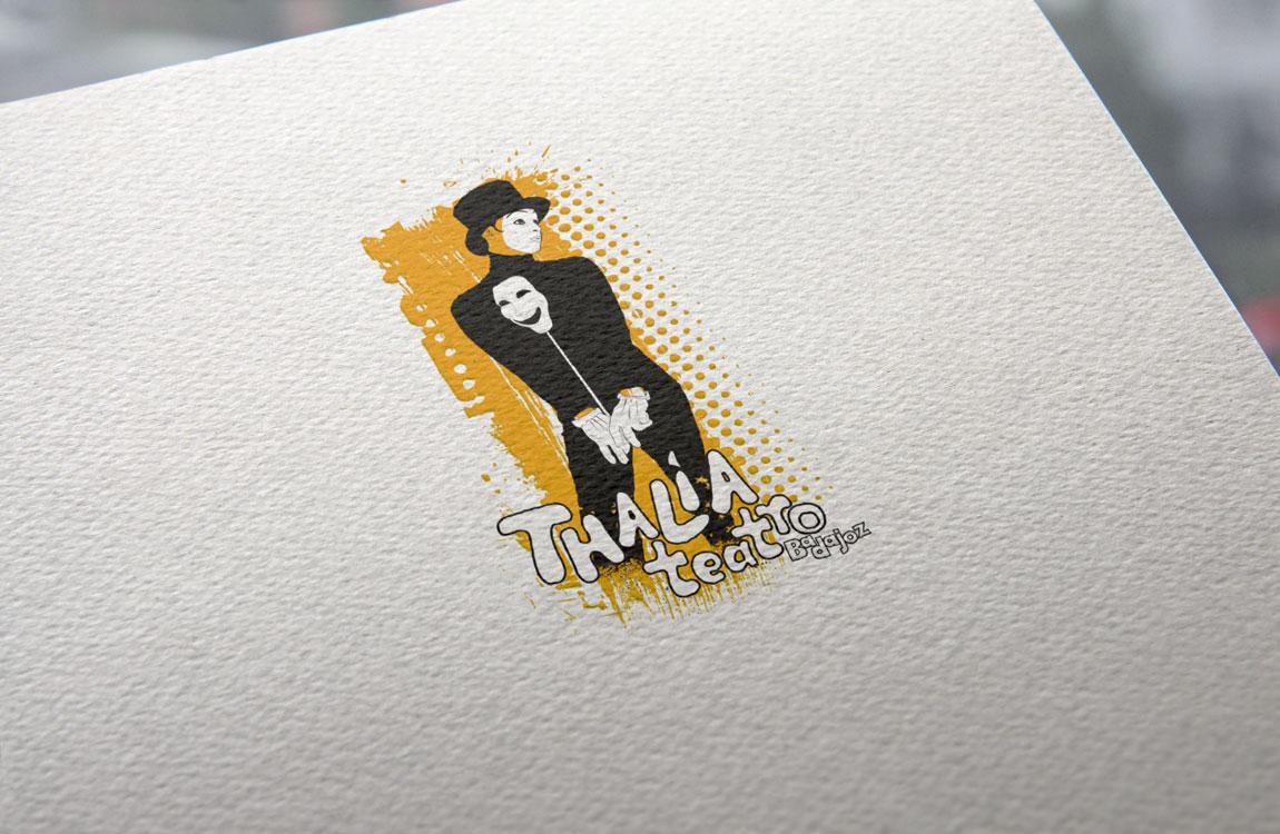 Thalía Branding impresión logotipo