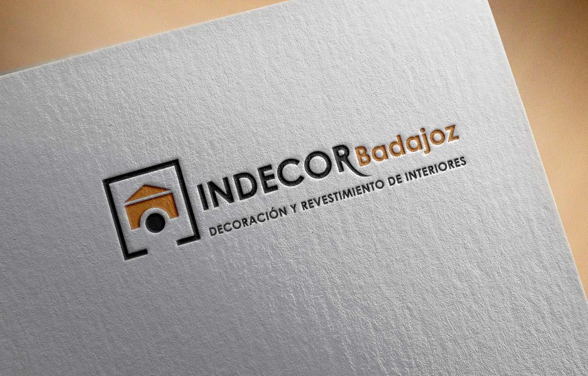Diseño Branding Indecor logotipo estampado