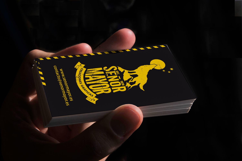 Branding, tarjeta presentación negra