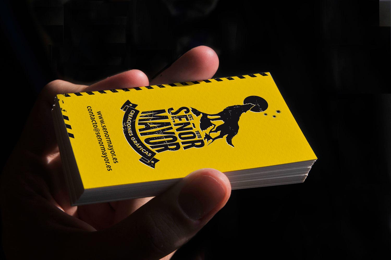 Branding tarjeta presentación amarilla