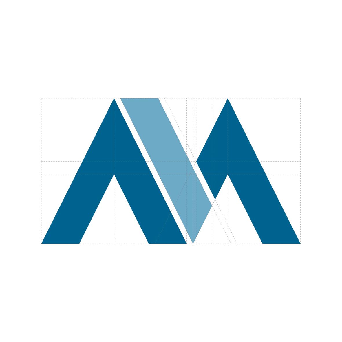 Vicente G. Manrique Branding, diseño del isotipo. Rejilla