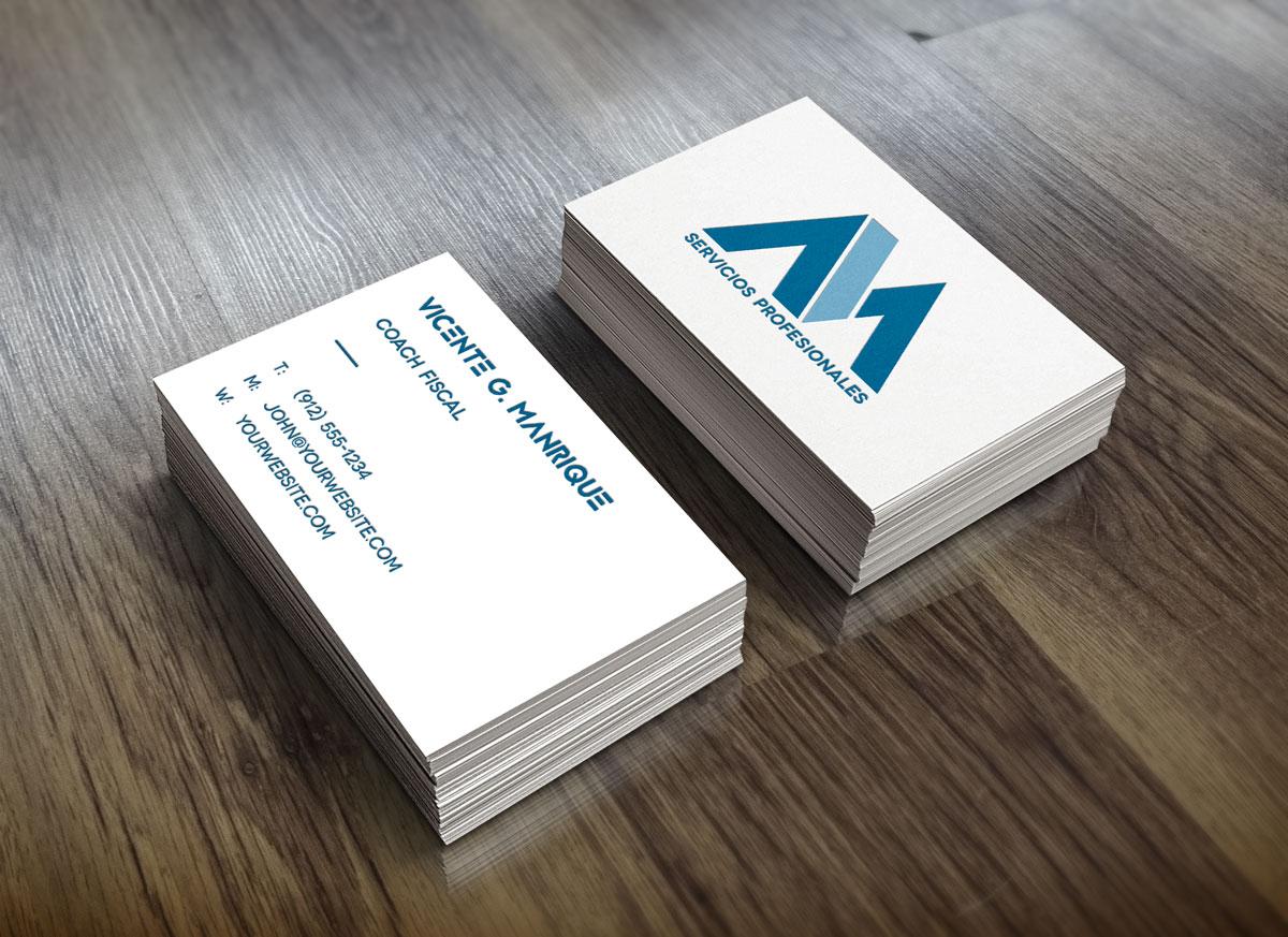 Vicente G. Manrique Branding tarjetas presentación