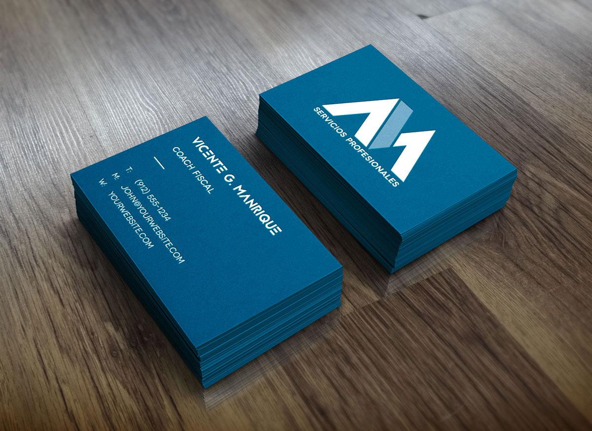 Vicente G. Manrique Branding tarjetas presentación color