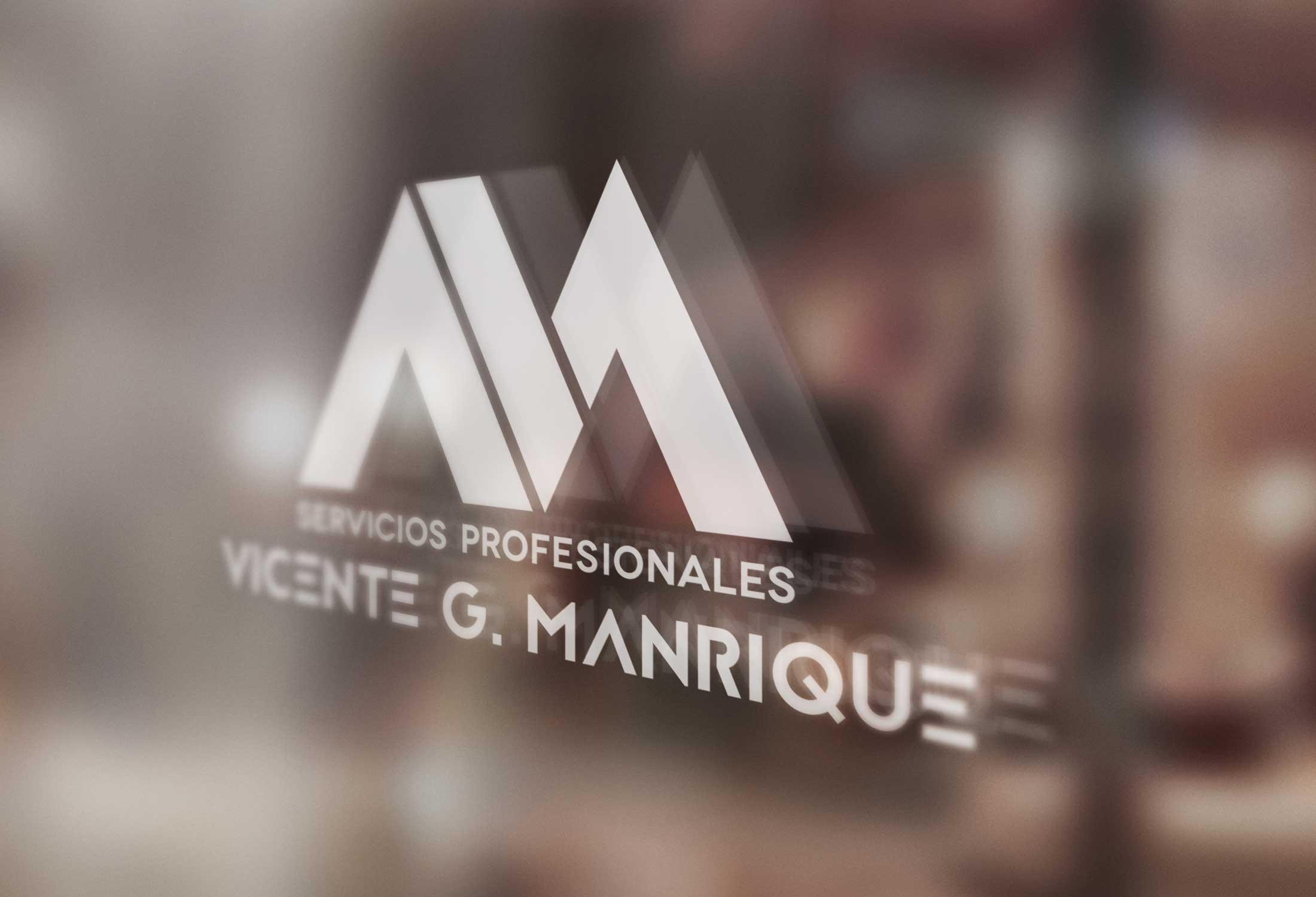 Vicente G. Manrique Branding personal, vinilo para vidrio