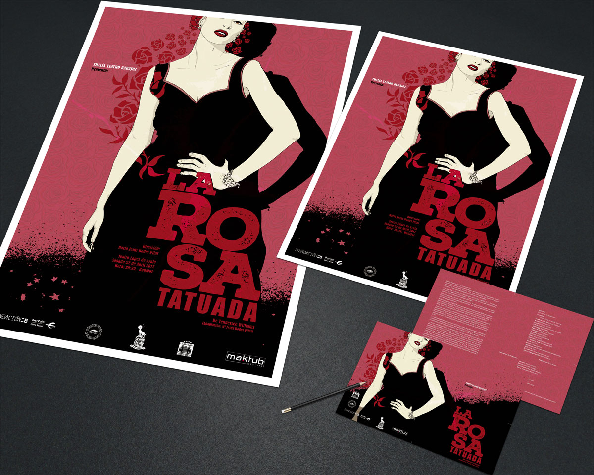 la rosa tatuada material grafico thalia teatro