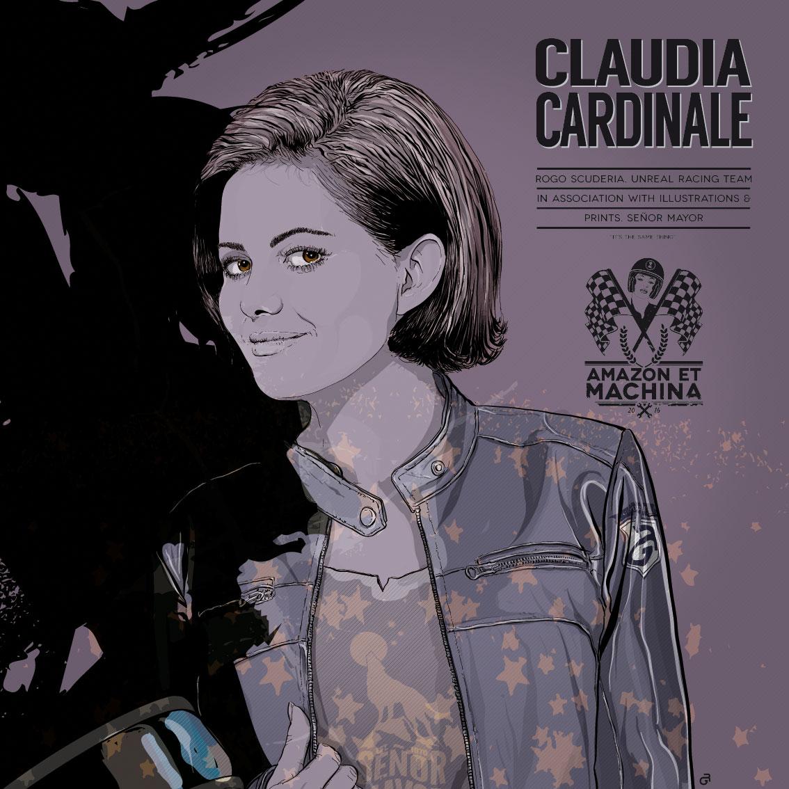 Claudia retrato. Amazon et Machina