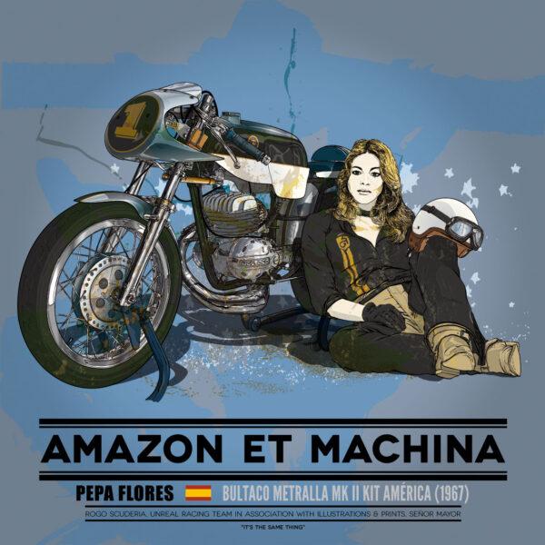 Pepa y su Bultaco Metralla
